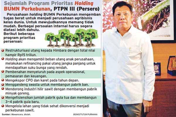 Prioritas program holding BUMN Perkebunan PTPN III (Persero). - Bisnis/Tutun Purnama