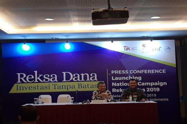 Dewan Asosiasi Pelaku Reksa Dana dan Investasi Indonesia bersama dengan Asosiasi Bank Agen Penjual Efek Reksa Dana meluncurkan Program National Campaign Reksa Dana 2019 di Jakarta, Selasa (22/1/2019)./Bisnis - Muhammad Ridwan