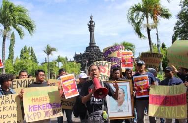 Solidaritas Jurnalis Bali Gelar Aksi Damai Tolak Remisi Pembunuh Wartawan