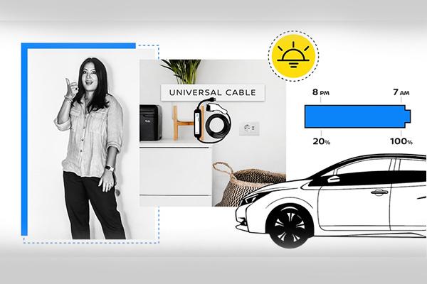 Untuk memberikan wawasan, Nissan mengemas dan berbagi pengetahuan praktis tentang listrik mobilitas dengan pelanggan, melalui suara orang-orang nyata ketika mereka mengalami teknologi secara langsung.  - NISSAN