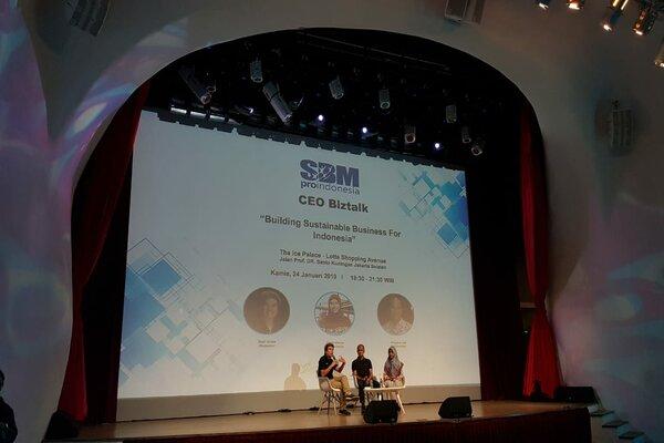 Founder Lapis Bogor Sangkuriang saat menjadi pembicara dalam CEO Biztalk SBM ProIndonesia. - Ist