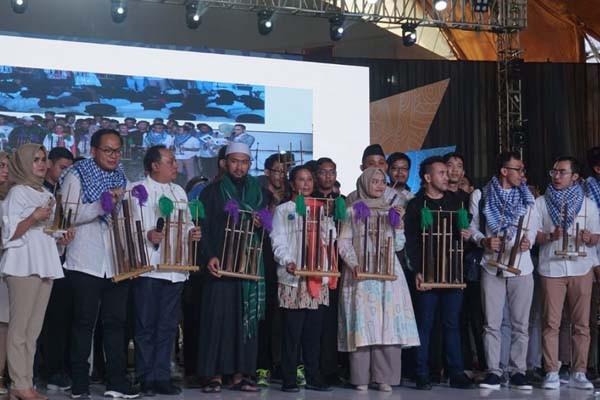 Kementerian BUMN menyelenggarakan acara bertajuk Islamic Nexgen Fest yang berlangsung di Telkom University, Bandung, Jawa Barat, Minggu (27/1/2019). - Istimewa