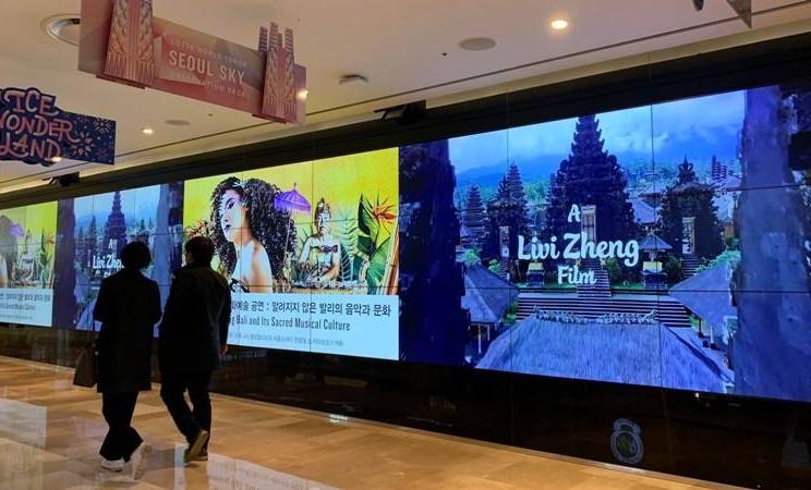 Film karya Livi Zheng, Bali: Beats of Paradise membuat heboh di Observatorium Seoul Sky - Dok. Livi Zheng