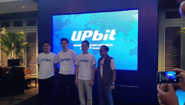 Jajaran manajemen Upbit Indonesia pada peresmian peluncuran Upbit Indonesia, bursa kripto aset, pada Selasa (29/1 - 2019).