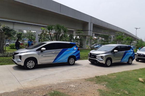 Armada angkutan kru kabin Garuda Indonesia.  - BISNIS.COM/Tom