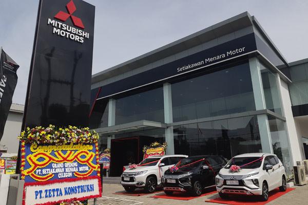 Dealer Mitsubishi Cilegon, fasilitas ke-6 hasil kerjasama MMKSI dengan SKM Group.  - BISNIS.COM/Aprianus Doni