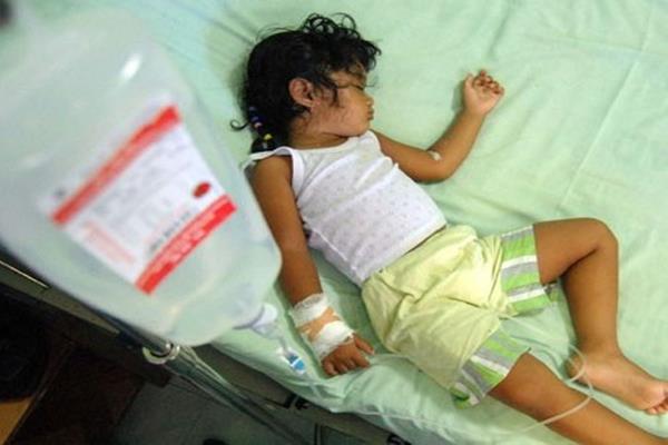 Penderita demam berdarah dengue (DBD) - Antara