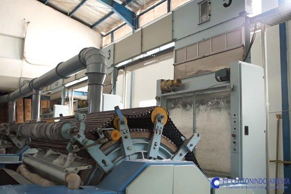 Mesin produksi di pabrik milik Cottonindo Ariesta (KPAS).