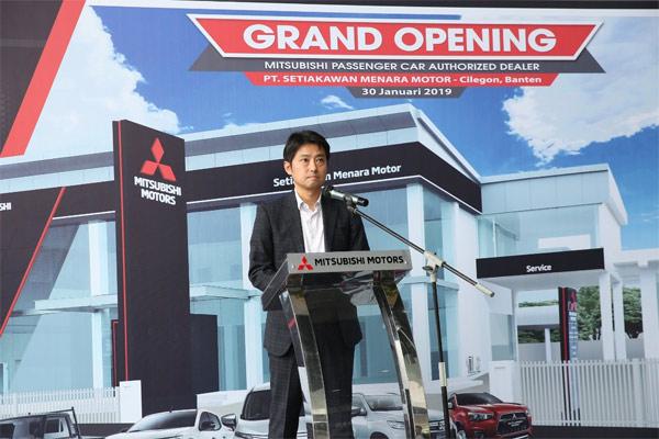 President Director PT Mitsubishi Motor Kramayuda Sales Indonesia (MMKSI) Naoya Nakamura.  - MMKSI