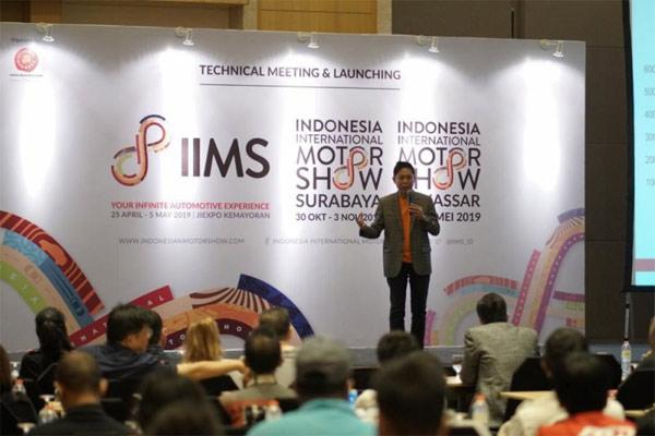 """Hendra Noor Saleh selaku Project Director IIMS dalam """"technical meeting"""" yang dihadiri perwakilan peserta IIMS 2019.  - ANTARA"""