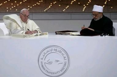 Paus Fransiskus dan Imam Besar Al-Azhar Tandatangani Deklarasi Bersejarah