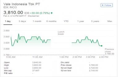 Vale Siap Divestasi 40% di Indonesia, Ini Target Harga Saham INCO Versi Analis