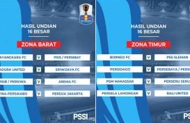 Undian 16 Besar Piala Indonesia: Madura United vs SFC, PSM vs Perseru, Bali United vs Persela