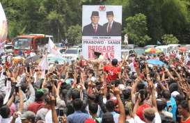 Prabowo Berpanas-panasan Bersama Ribuan Warga Purbalingga