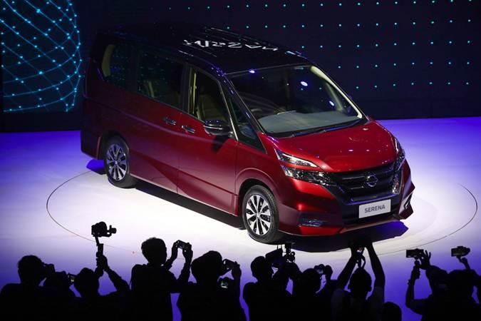Mobil All New Nissan Serena saat peluncurannya di Jakarta, Selasa (19/2/2019). - Bisnis/Abdullah Azzam