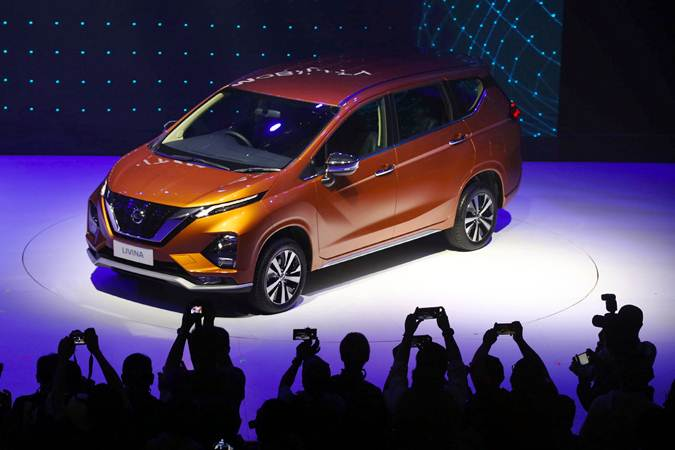 Mobil All New Nissan Livina di pajang saat peluncurannya, di Jakarta, Selasa (19/2/2019). - Bisnis/Abdullah Azzam