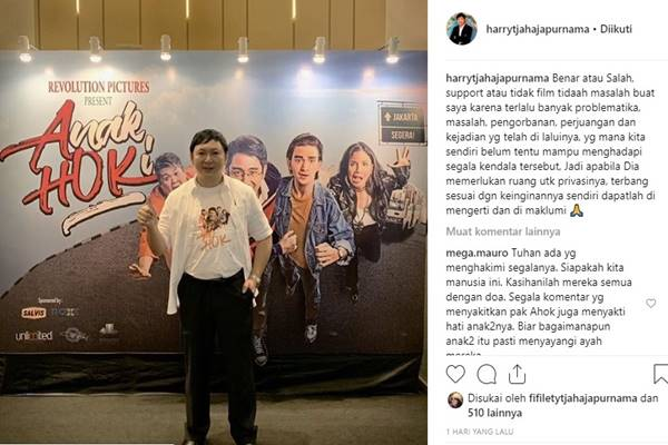 Harry Tjahaja Purnama - Instagram @harrytjahajapurnama