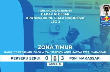 Piala Indonesia : PSM Makassar vs Perseru 3-0, PSM ke Perempat Final dengan Aggregate 12-0. Ini Videonya