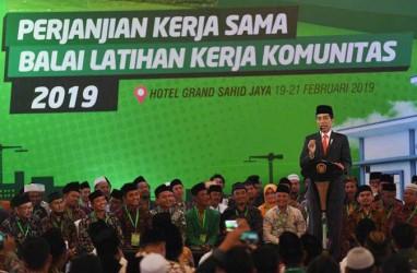 Pengembangan BLK Komunitas, Presiden Jokowi Membayangkan Ada Santri Jadi Direktur Bank Syariah