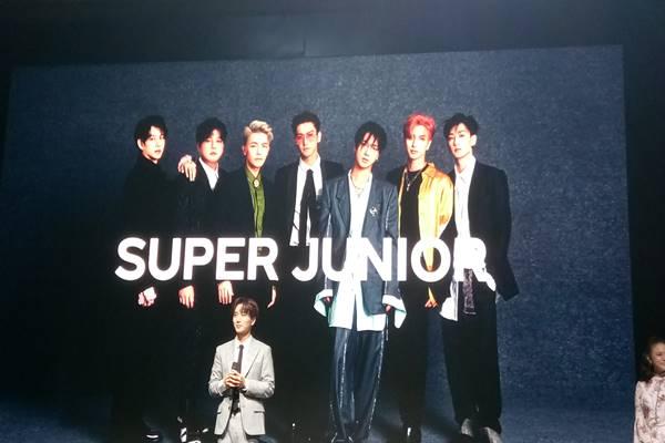 Leeteuk, personel Super Junior menghadiri acara penandatanganan pokok perjanjian kerja sama SM Entertainment Group dan PT Trans Media Corpora (Trans Media), di Jakarta, Kamis (21/2/2019). JIBI/Bisnis - Reni Lestari