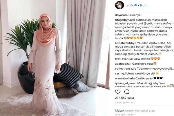 Siti Nurhaliza - Instagram @ctdk