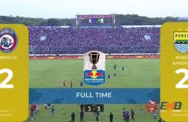 Piala Indonesia: Skor Akhir Arema vs Persib 2-2, Persib ke Perempat Final. Live Streaming via PSSI TV