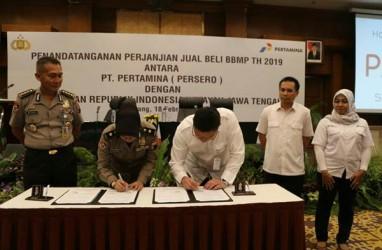 Pertamina MOR IV Pasok Kebutuhan BBM dan Pelumas Polda Jawa Tengah