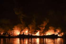 Harga Satu Kapal Terbakar di Muara Baru Bisa Rp7 Miliar