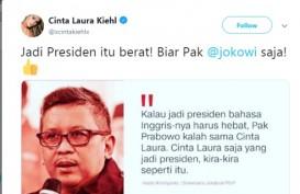 Cinta Laura Disebut Hasto : Jadi Presiden Itu Berat! Biar Pak Jokowi Saja!