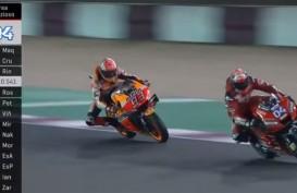 MotoGP Qatar: Ini Video Duel Sengit Andrea Dovizioso vs Marc Marquez