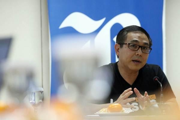 Chief Executive Officer PT Kioson Komersial Indonesia Tbk Jasin Halim saat berkunjung ke kantor redaksi Bisnis Indonesia, di Jakarta, Selasa (24/4/2018). - JIBI/Dedi Gunawan