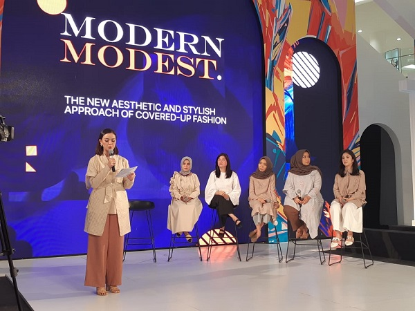 konferensi pers Fashion Nation 13th Edition Modern Modest di Senayan City, Rabu (20/3/2019) - Bisnis/Eva Rianti