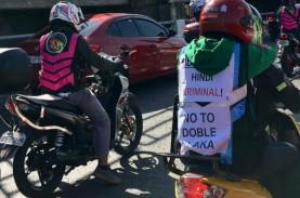 10.000 Pemotor Protes Ketentuan Pelat Nomor Kendaraan
