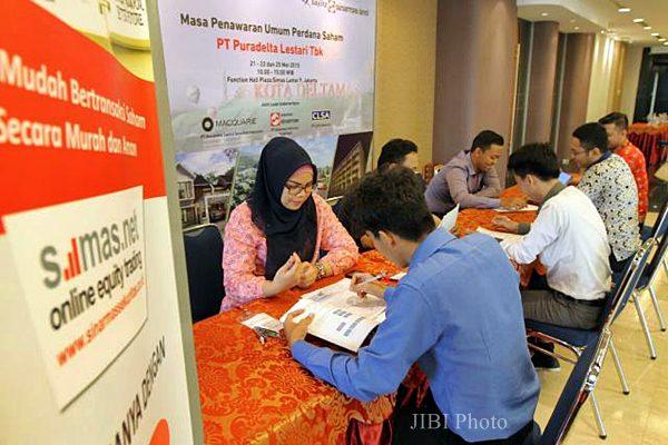 Suasana Penawaran Umum Perdana Saham PT Puradelta Lestari Tbk di Jakarta, Kamis, (21/5). - JIBI/Nurul Hidayat