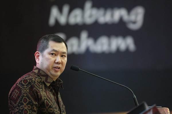 Chairman MNC Group Hary Tanoesoedibjo menyampaikan sambutan pada pembukaan perdagangan saham di Jakarta, Senin (8/10/2018). - JIBI/Dedi Gunawan