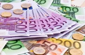 Data Ekonomi Eropa Lesu, Euro Terseret Turun