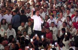 Kampanye di Karawang, Jokowi Patok Minimal Raih Dukungan 60 Persen