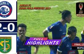 Final Piala Presiden: Arema FC vs Persebaya 2-0, Arema FC Juara dengan Aggregate 4-2. Ini Videonya