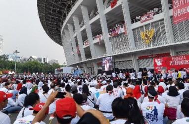 Massa Konser Putih Bersatu Meluber Hingga Sisi Luar GBK