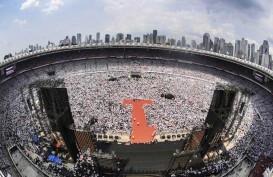 Jokowi Singgung Capaian Ekonomi di Kampanye Akbar Konser Putih Bersatu