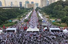 Foto-foto Massa Pendukung Jokowi-Ma'ruf Amin Padati GBK
