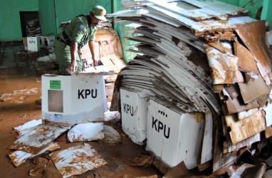 Ratusan Surat Suara di Ciseeng Bogor Rusak Terkena Banjir