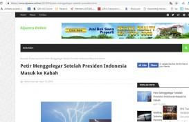 Berita Petir Menggelegar saat Jokowi Masuk Kabah Dibantah Al Jazeera. Beberapa Media Online Termakan Hoaks
