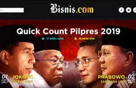 Hasil Quick Count Pemilu 2019 : Bisnis.com Kerja Sama dengan 3 Lembaga
