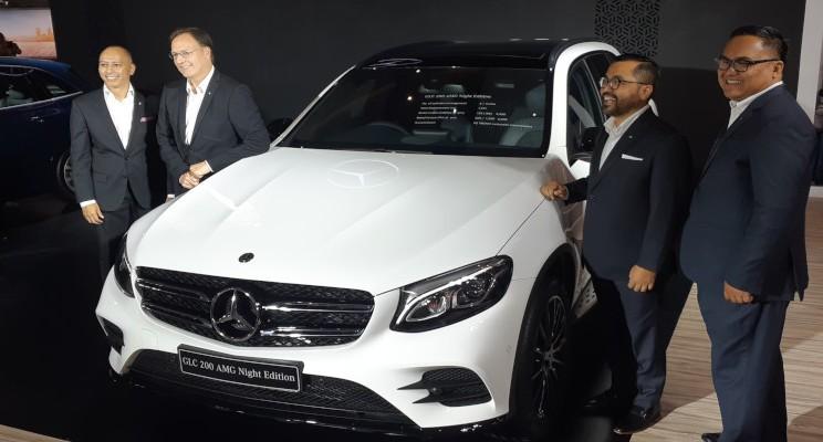 Mercedes-Benz GLC AMG Night Edition dipamerkan di IIMS 2019, Kamis (25/4/2019). - Aprianus Doni Tolok