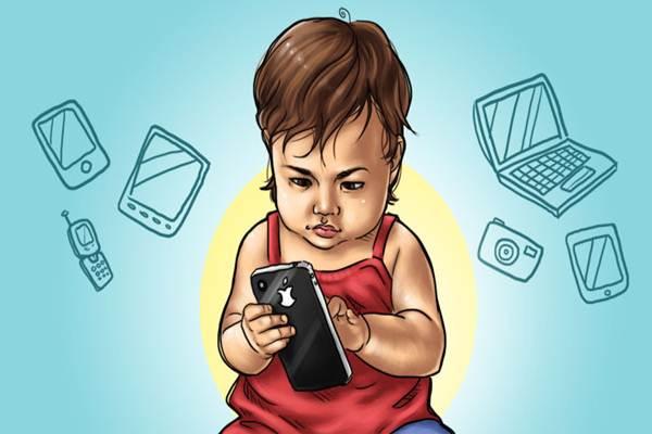 Anak main gadget - lifehacker