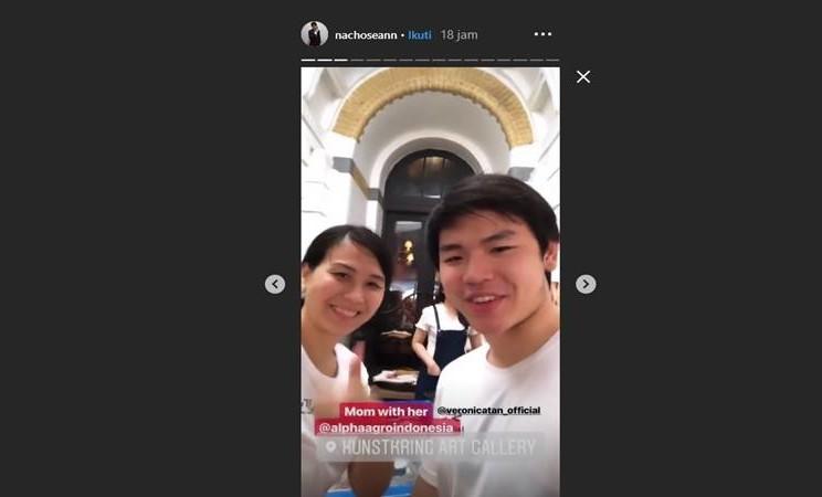 Veronica Tan dan anak sulungnya, Nicholas Sean - Instagram @nachoseann