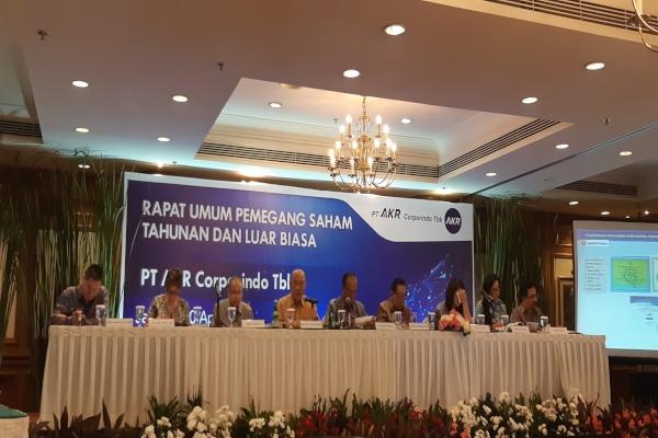 Dalam Rapat Umum Pemegang Saham Tahunan dan Luar Biasa yang digelar PT AKR Corporindo Tbk. di Jakarta, Selasa (30/4/2019), diputuskan bahwa perseroan akan membagikan dividen Rp963,52 miliar. - Bisnis/Novita Sari Simamora