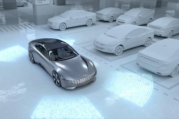 Mobil Hyundai mengisi daya listrik secara nirkabel. - HYUNDAI