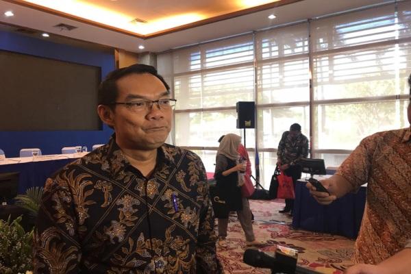 Direktur Utama PT Elnusa Tbk. Elizar Parlindungan Hasibuan memberikan keterangan usai menggelar rapat umum pemegang saham tahunan kinerja 2018 di Jakarta, Kamis (11/4/2019).Bisnis - M. Nurhadi Pratomo